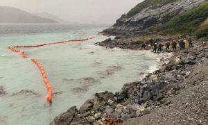 Patagonien: Experten versuchen das Diesel mit Netzen wieder einzufangen