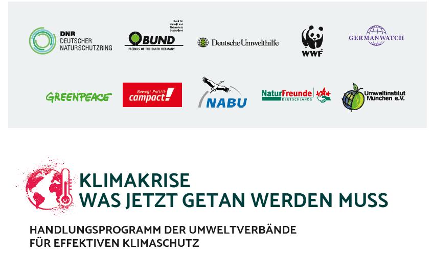Das Bild zeigt einen Ausschnitt des Titelblattes der veröffentlichten Handlungsanweisungen. Es zeigt alle Logos der zehn beteiligten Verbände.