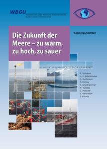 Titelseite des WBGU Sondergutachtens, Titel: Die Zukunft der Meere - zu warm, zu hoch, zu sauer