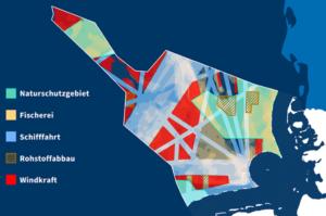 Eine Übersicht der marinen Raumordnung der Nordsee