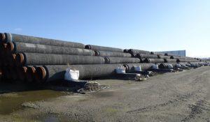 Rohre für den Bau von Nord Stream 2